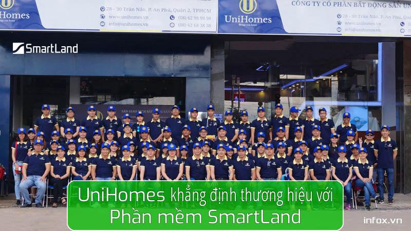 Phần mềm quản lý bất động sản SmartLand khẳng định thương hiệu UniHomes