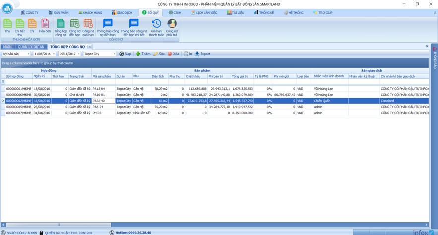 Phần mềm quản lý SmartLand