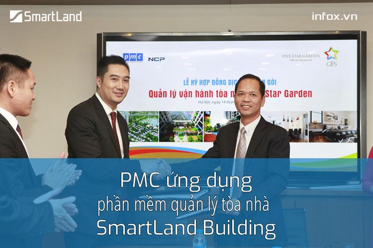 PMC ứng dụng phần mềm quản lý tòa nhà SmartLand Building