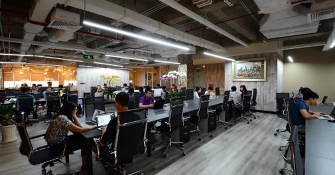 Phòng làm việc tại một Coworking Space