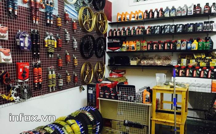 Kinh doanh cửa hàng phụ tùng xe máy