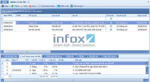 Tính năng quản lý dự án trên phần mềm SmartLand