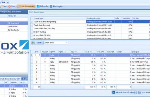 Quản lý lịch thanh toán trên phần mềm SmartLand