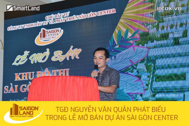Ông Nguyễn Văn Quân - TGĐ Sài Gòn Land phát biểu trong đợt mở bán dự án