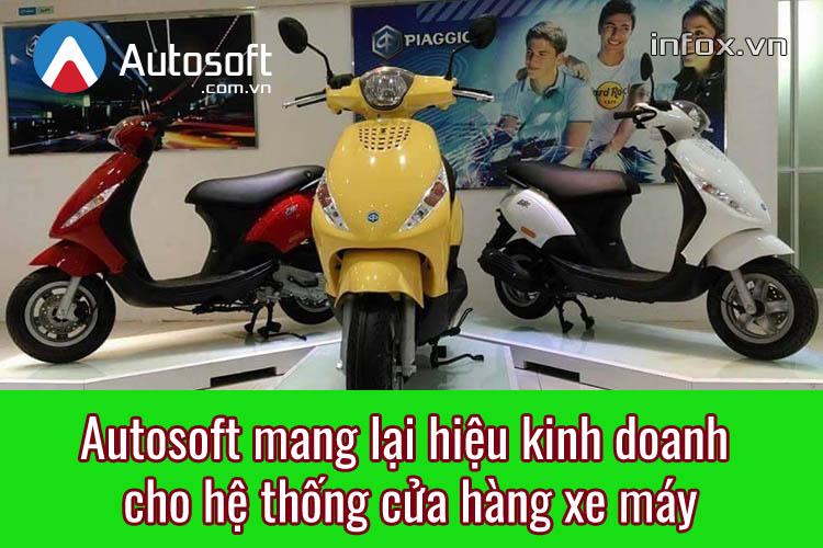 Phần mềm Autosoft mang lại hiệu quả gì cho hệ thống cửa hàng xe máy?